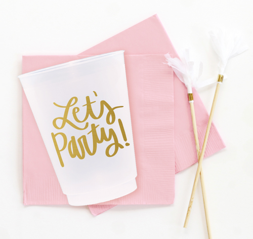 Let's Party Cups - Set of 10, 16 oz.