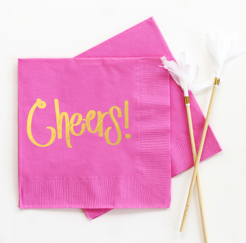 Cheers Cocktail Napkins - Set of 20