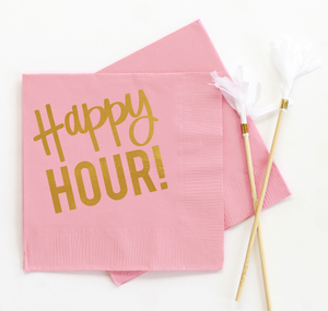 Happy Hour Cocktail Napkins - Set of 20