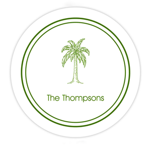 Personalized Palm Tree Beach Coasters