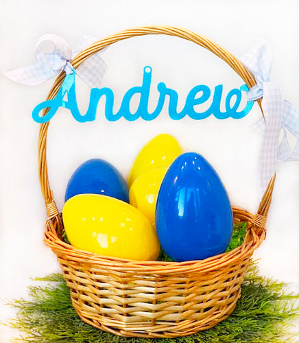 Acrylic Name Gift Tag -Easter Basket Name Tag Large