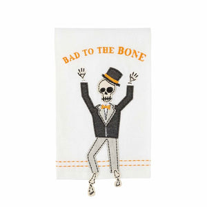 Bad to the Bone Skeleton Dangle Towel
