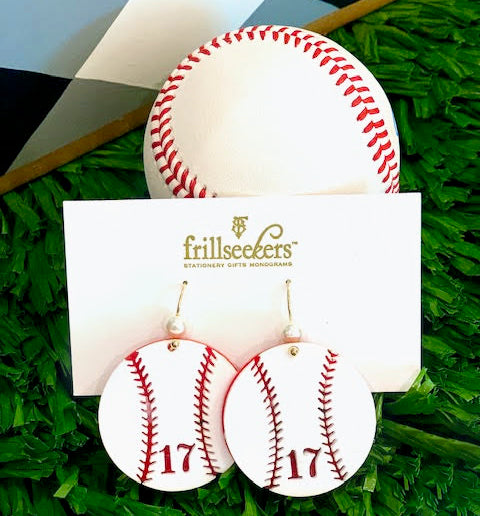 Acrylic Homerun Baseball Earrings