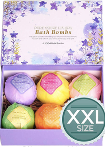 LuxeSpa 6 Bath Bombs Gift Set