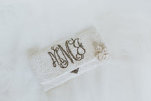 Beaded Monogram Name Wedding Handbag