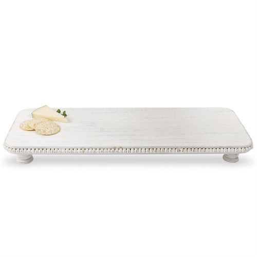 White-Washed Large Beaded Serving Board
