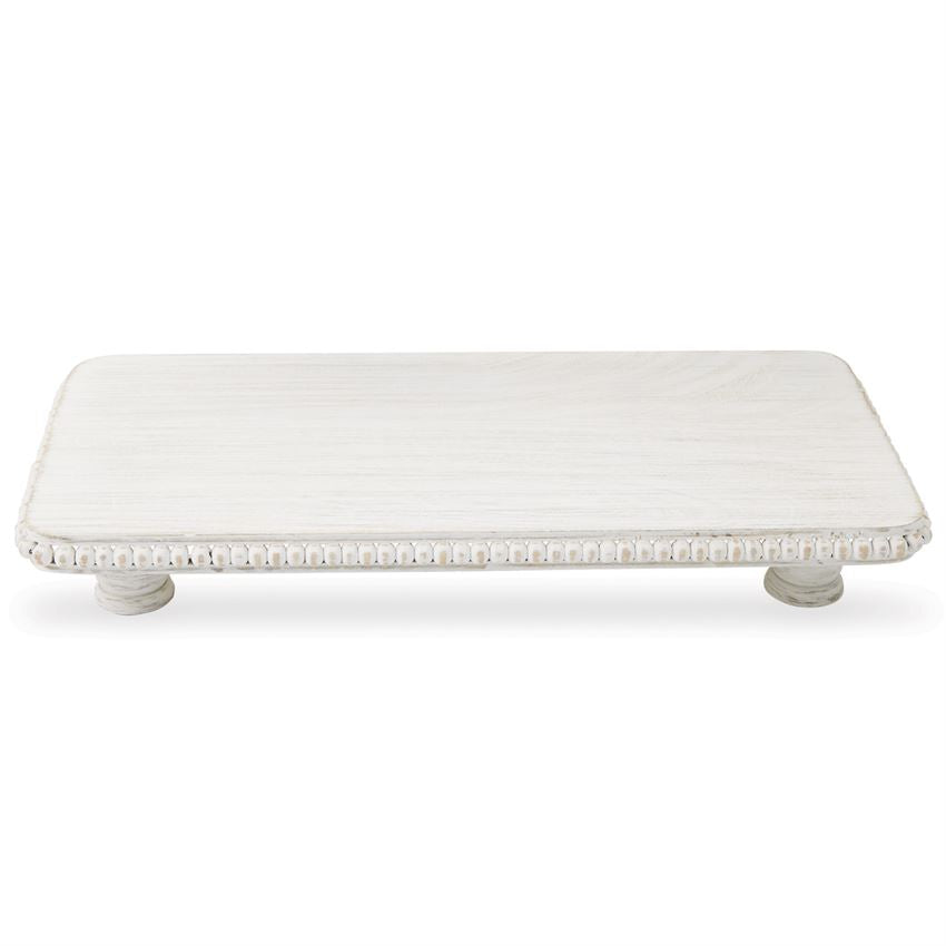 White-Washed Medium Beaded Serving Board
