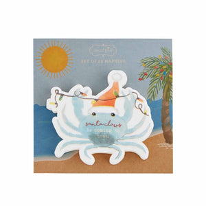 Crab Shaped Paper Christmas Napkins - Set of 20