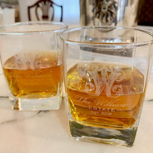 Engraved HighBall Whiskey Glassware