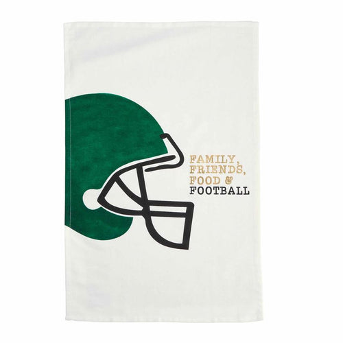 Family, Friends, Food & Football Hand Towel