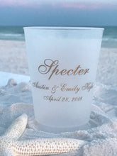 Family Name with Wedding Date - 16 oz. Shatterproof Cups