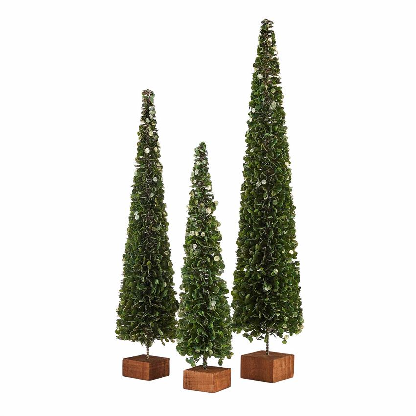 Faux Boxwood Tree Decor