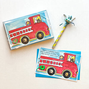 Fire Engine Fire Truck Invitations
