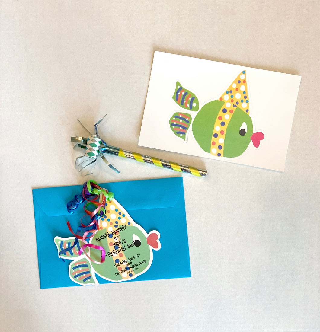 Fish Pool Beach Party Invitations