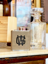 Suede Leather Flask Engraved Personalized