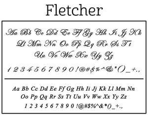Fletcher Family Rectangle Self-Inking Stamper or Hand Stamp