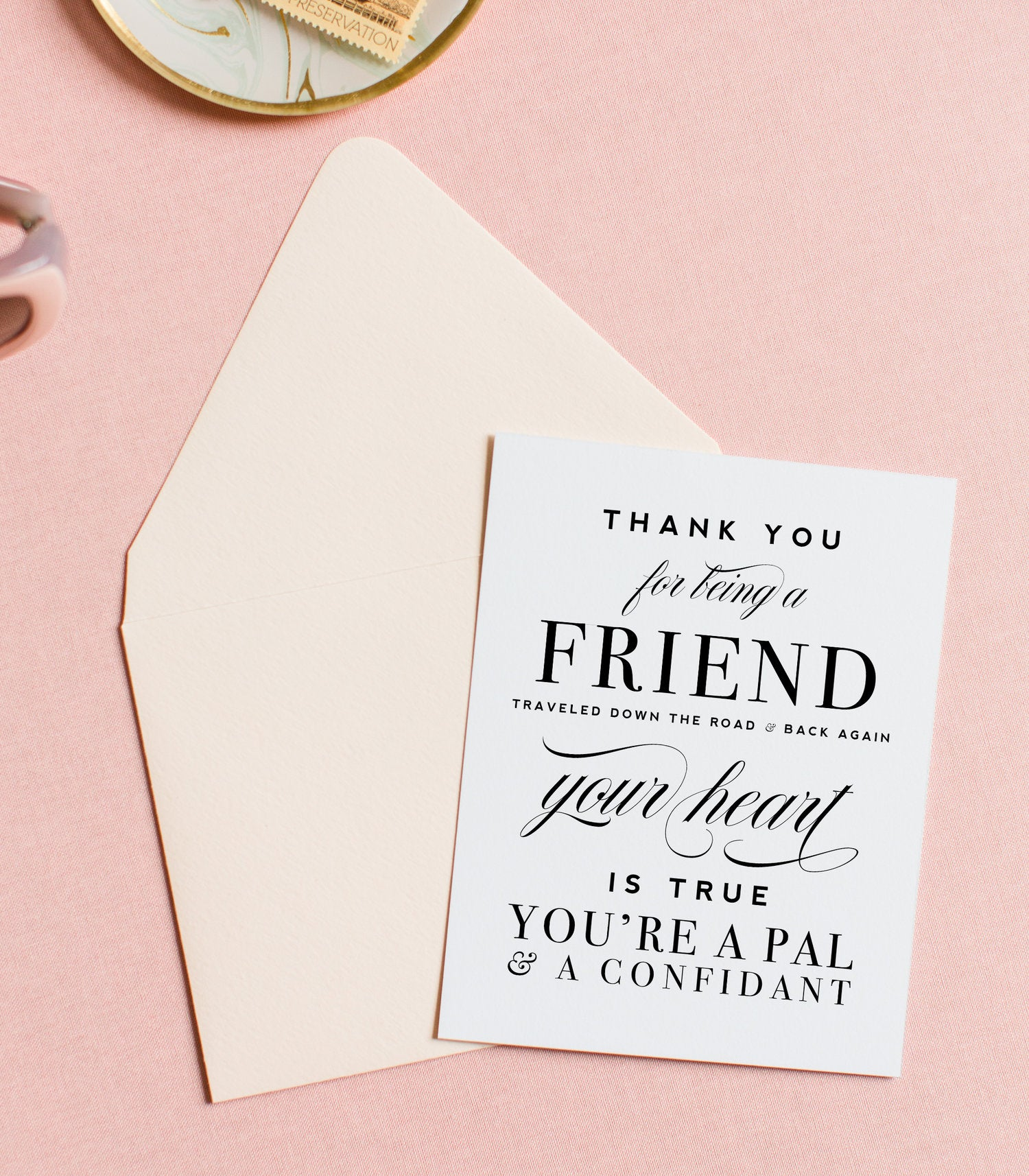 Thank you for being there Greeting card