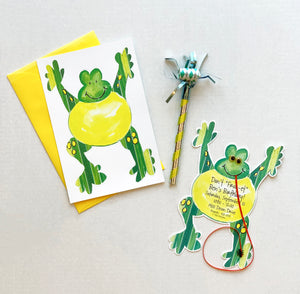 Frog Insect Party Invitations