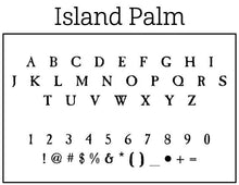 Island Palm Return Address Round Self-Inking Stamper or Hand Stamp