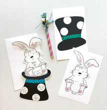 Magic Hat & Rabbit Magician Party Invitations