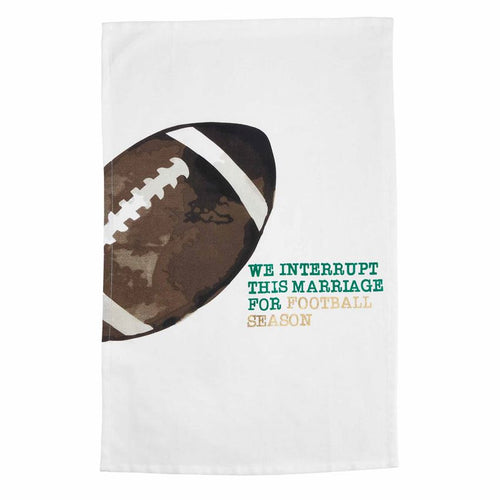We Interrupt This Marriage for Football Season Hand Towel