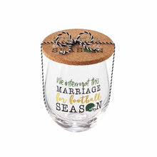 We Interrupt This Marriage for Football Season Wine Glass & Coaster Set