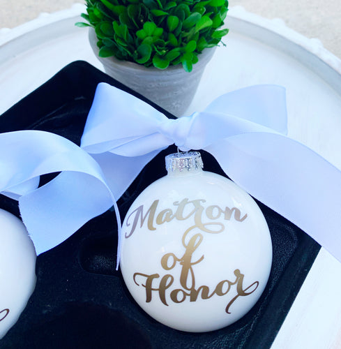 Matron of Honor Ornament