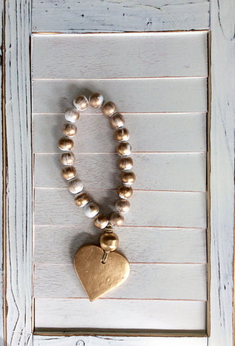 Petite White Blessing Beads - Heart
