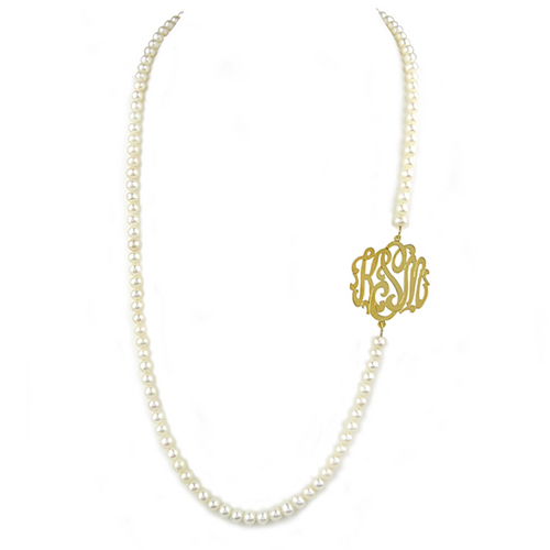 Miss Heidi's Pearl Monogram Necklace