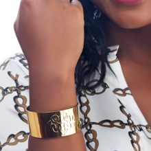 Miss Heidi's Casteel Monogram Cuff Bracelet & Ring Set