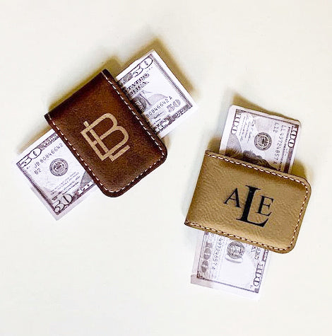 Trist Suede Money Clip