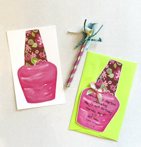 Nail Polish Pamper Party Girls Night Out Nail Salon Invitations