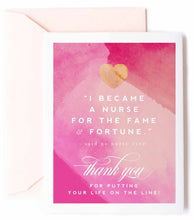 Nurse - Thank You Greeting Card