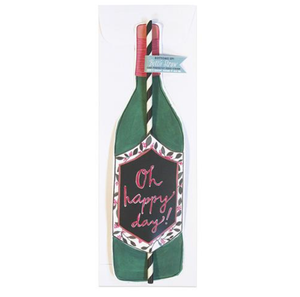 """Oh Happy Day"" Bottle Straw"