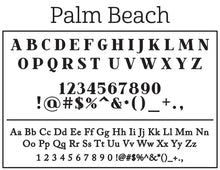 Palm Beach Family Name with Elephants Round Self-Inking Stamper or Embosser