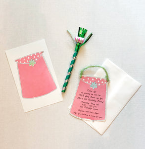 Pink Purse Hangbag Shopping Party Invitations