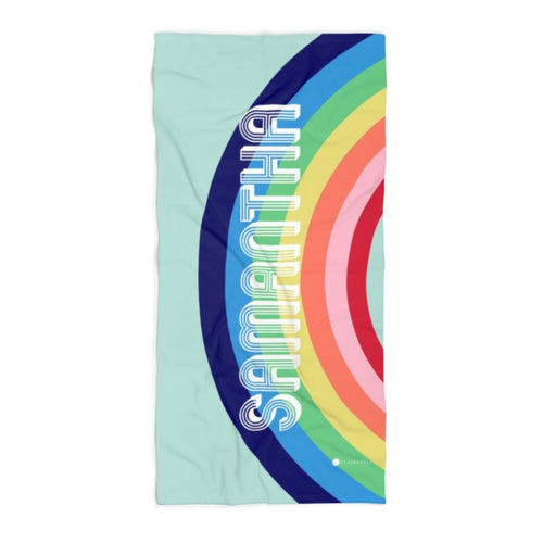 Rainbow Blue Beach Towel