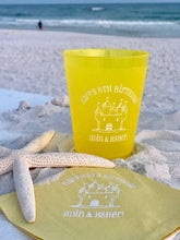 Sand Castle 16oz. Color Shatterproof Cup & Napkin Set