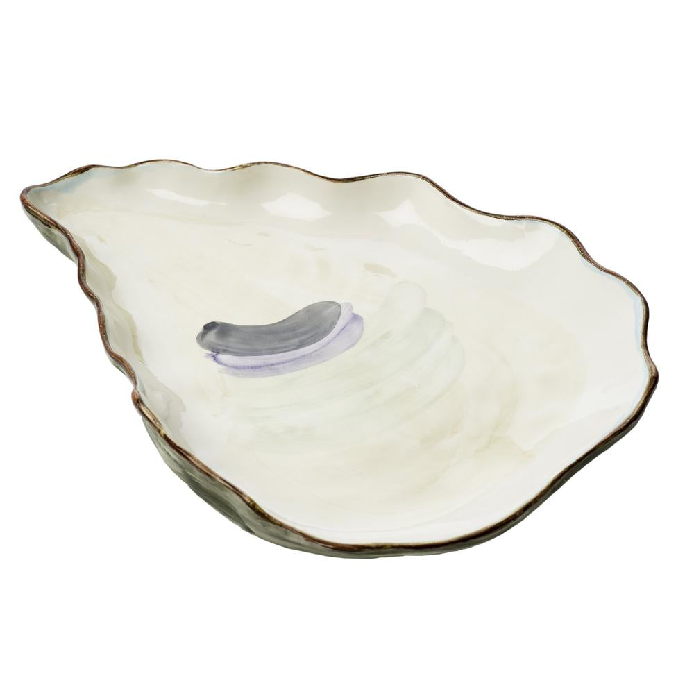 Large Seaside Oyster Plate