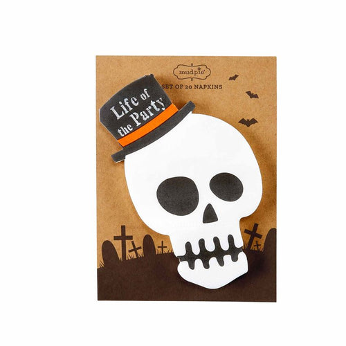 Skeleton Halloween Paper Napkins - Set of 20