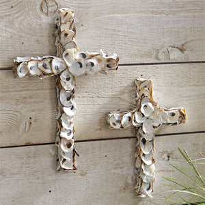 Small Oyster Shell Cross