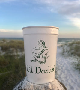 Boat Name with Anchor Icon - 16 oz. Stadium Cup