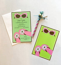 Sunglasses & Flip Flop Beach Pool Party Invitations