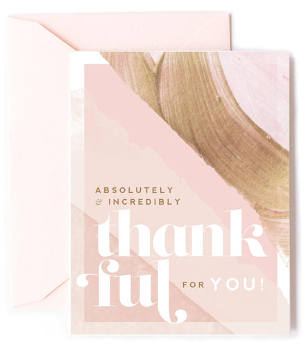 Thankful For You - Greeting Card