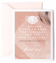 Health Care Professional - Thank You Greeting Card