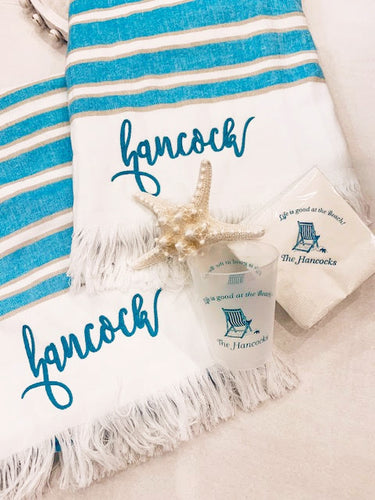 Weekend at the Beach Set - Towels, Cups & Napkins