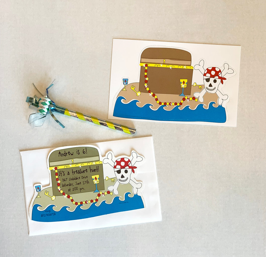 Treasure Chest Pirate Invitations