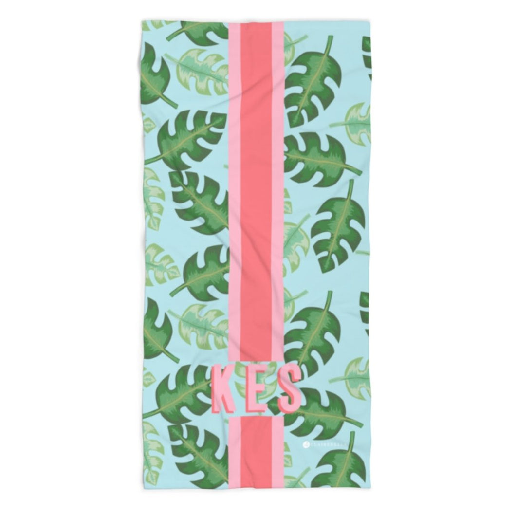 Tropical Blue Beach Towel