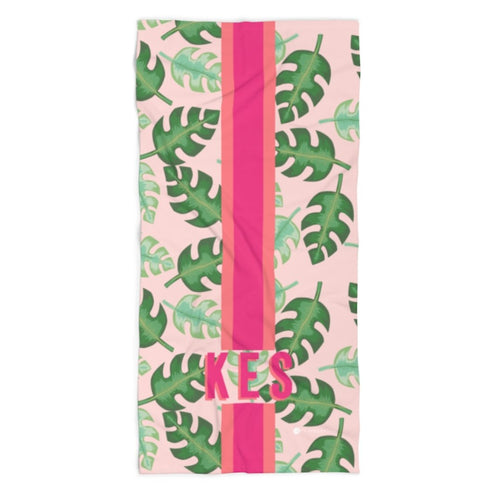 Tropical Pink Beach Towel