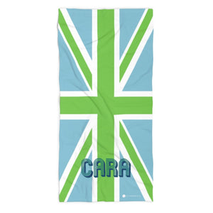 Union Jack Blue Beach Towel